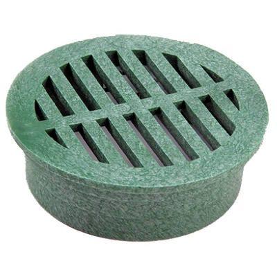Round Grate, Green Foam Polyolefin, 6-In.