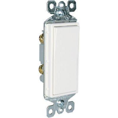 Single Pole Decorator Switch 15A 120/277W White