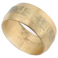 Brass Compression Sleeve, Lead-Free, 5/8-In., 2-Pk.