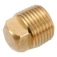 Pipe Fitting, Plug, Lead-Free Brass, 1/2-In.