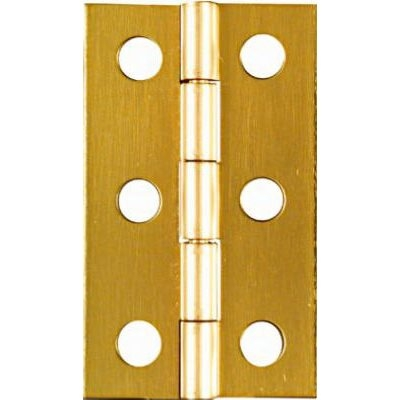 Image of 2-Pk., 2 x 1-3/16-In. Hinges, Light-Duty, Brass