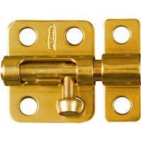Door Barrel Bolt, Bright Brass, 2-In.