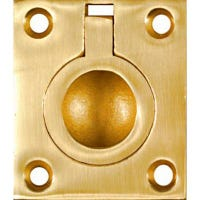 Cabinet Ring Pull, Bright Brass, 1-3/8-In.