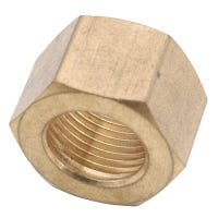 Brass Compression Nut, Lead-Free, 3/8-In., 3-Pk.