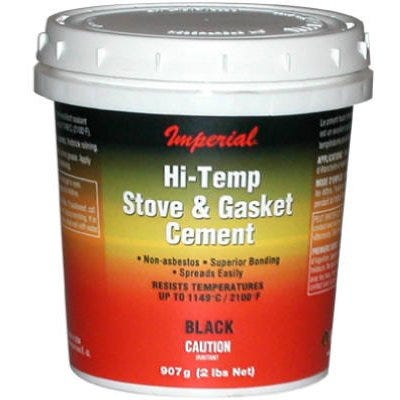 Furnace Cement, Black, 16-oz.