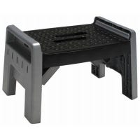 Folding Stool, Black/Platinum Plastic