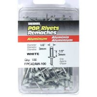 100-Pack Short White Aluminum Rivets