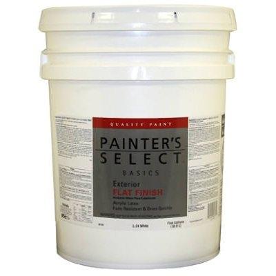 Image of Basics Exterior Latex House Paint, Flat White, 5-Gals.