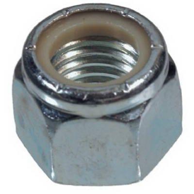 Lock Nuts, 6-32 Coarse Thread, Nylon Insert, Zinc-Plated Steel, 100-Pk.