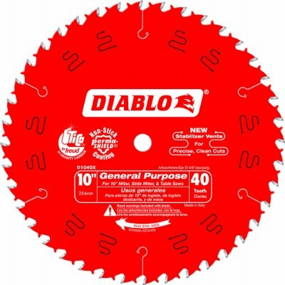 Image of 10-Inch 40-TPI Carbide-Tipped Finishing Saw Blade