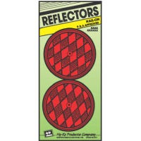 Reflectors, Nail-On, Red, 3.25-In., 2-Pk.
