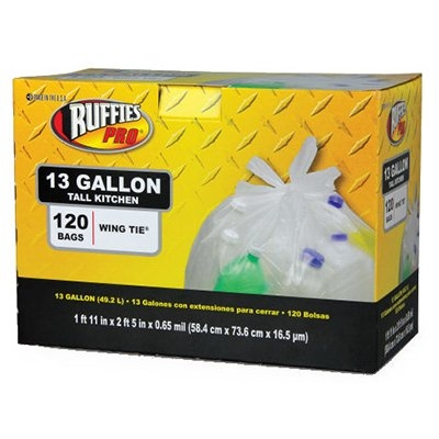 Image of Tall Kitchen Recycling Bags, Clear, 13-Gal., 120-Ct.
