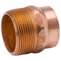 Wrot Copper Pipe Fitting, DWV Adapter, Cast Bronze, Male Pipe Thread, 1-1/2-In.