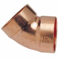 Copper Pipe DWV Elbow, 45-Degree, 1-1/2-In. CxC