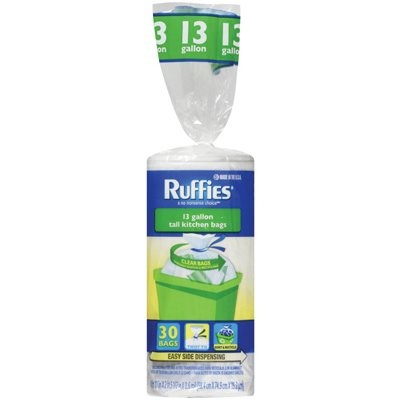 Image of Recycling Bags, Clear, 13-Gals., 30-Ct.
