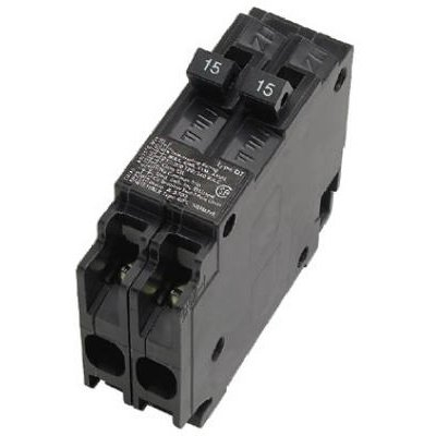 Image of Circuit Breaker, 15A 120V Single Pole Twin