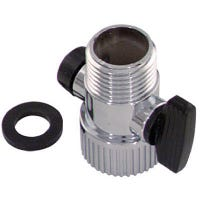 Shower Flow Control, Chrome, 1/2-In. Female Pipe Thread x 1/2-In. Male Pipe Thread