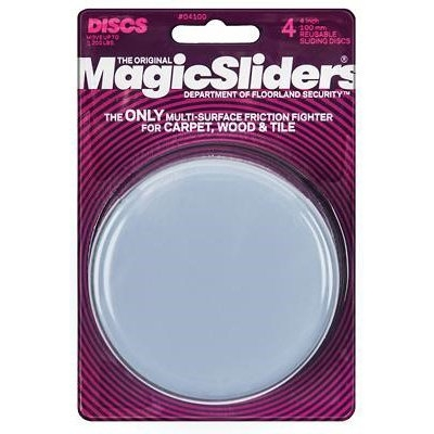 Image of Surface Protectors, Furniture Sliding Discs, Adhesive, 4-In. Round, 4-Pk.
