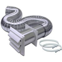 Complete Flexible Duct Dryer Vent Kit, Aluminum, 4-In. x 8-Ft.