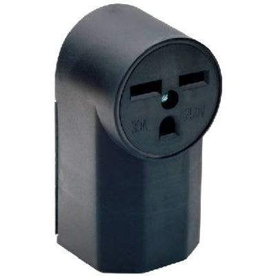 Power Outlet, Surface-Mount, Black, 250-Volt, 30-Amp