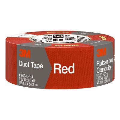Duct Tape, Red, 1.88-In. x 60-Yd.