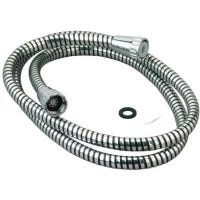 59-Inch Chrome/Black Vinyl Shower Hose