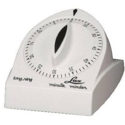Minute Minder Cooking Timer, Long-Ring, White
