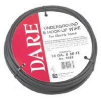 Underground & Hook-Up Wire For Electric Fence, Polyethylene Over Steel, 20,000-Volt, 50-Ft.