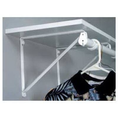 Image of 10.75-In. White Shelf & Rod Bracket