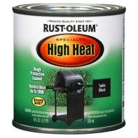 1/2-Pint Barbecue Black Satin Finish High Heat Paint