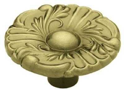 Image of Provincial Round Cabinet Knob, 1-1/2-In., Antique Brass