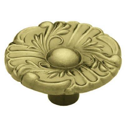 Provincial Round Cabinet Knob, 1-1/2-In., Antique Brass