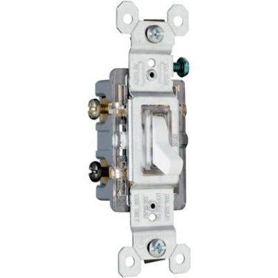 3-Way Illuminated Toggle Switch, Ivory, 120-Volt, 15-Amp