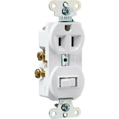 Combination Switch & Outlet, White