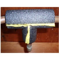 Pipe Insulation Tee, Tubular Foam, 3/4-Inch