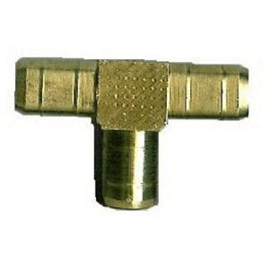 Pipe Fitting, Hose Barb Tee, Brass, 1/4-In. ID