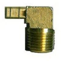 Brass Mini Hose Barb Elbow, 1/4 ID x 1/4-In. MPT