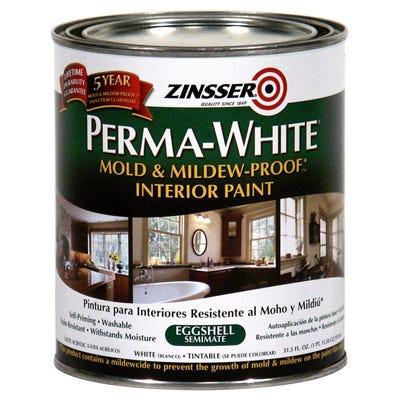 Perma-White Mold/Mildew-Proof Interior Paint, 1-Qt.
