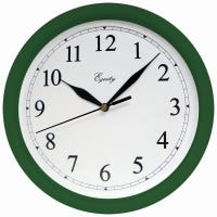 Wall Clock, Hunter Green, 10-In. Round