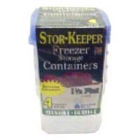 Freezer & Storage Container, 1/2-Gal., 2-Pk.