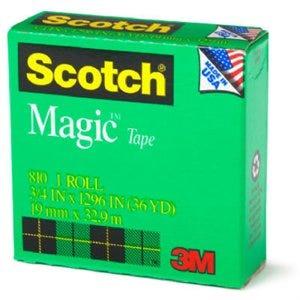 Magic Transparent Tape, 1/2-In. x 36-Yds.