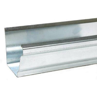 K-Style Gutter, Mill Finish Galvanized Steel, 5-In. x 10-Ft.