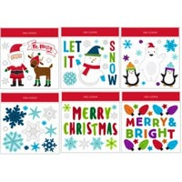 Christmas Window Clings, Assorted, 11.5 x 12-In.