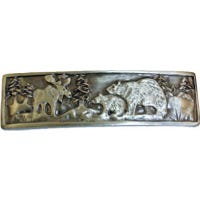 Cabinet Pull, Wilderness, Pewter