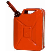 Metal Jerry Gas Can, Red, 5-Gallons