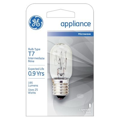 Image of 25-Watts Clear Tube Appliance Light Bulb