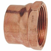 Wrot Copper Pipe Fitting, WV Adapter, Female Pipe Thread, 1-1/2-In.