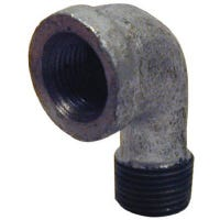 Pipe Fittings, Galvanized Street Elbow, 90 Degree, 1-1/2-In.