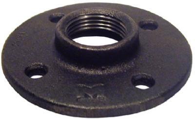 Image of Black Floor Flange, 1.25-In.