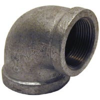 Galvanized Metal Pipe Fitting, Reducing Elbow, 90 Degrees, 2 x 1-1/2-In.